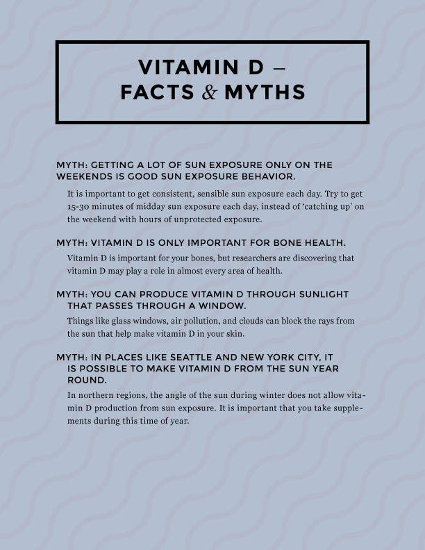 Vitamin D myths and facts